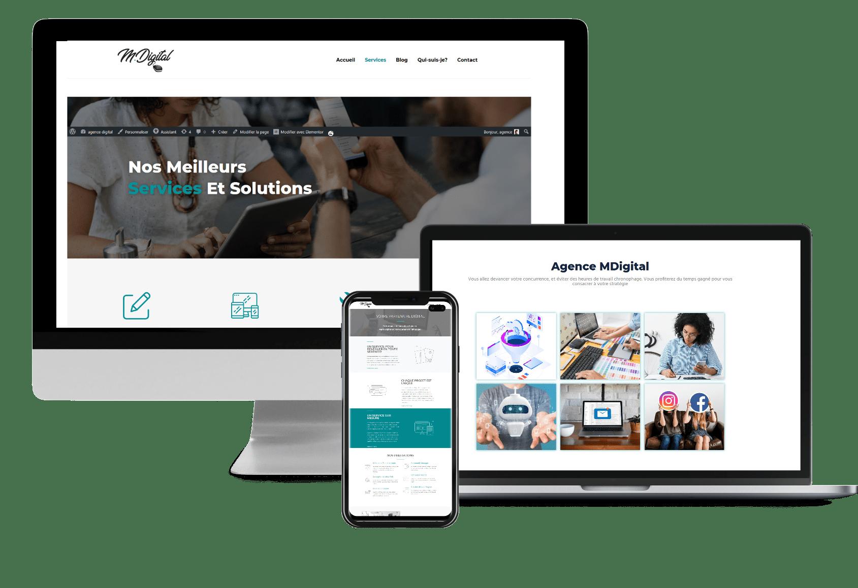 Création de site web sur-mesure